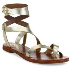 Tory Burch Patos Leather Wrap Sandals $225 thestylecure.com