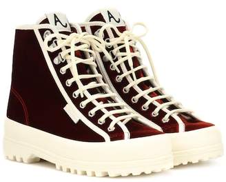 ALEXACHUNG x SUPERGA® Velvet Alpina sneakers