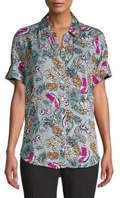 d9b2cb4a200827 Short Sleeve Women Fitted Button Down Shirt - ShopStyle