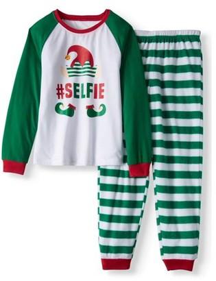 Family Pjs Holiday Elf Selfie Pajamas, 2-piece Set (Little Girls & Big Girls)