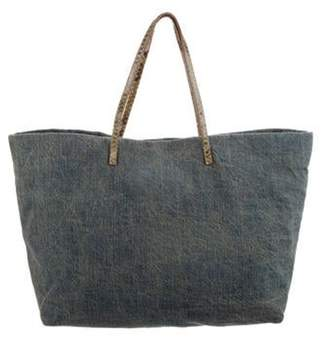 Fendi Canvas Tote Bag Blue Canvas Tote Bag