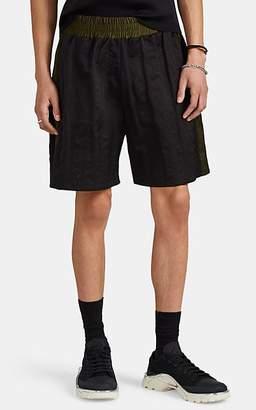 Maison Margiela Men's Colorblocked Washed Tech-Taffeta Boxing Shorts - Black