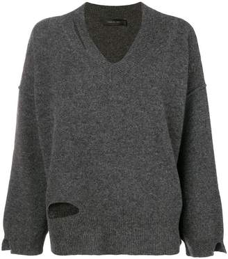 Federica Tosi v-neck oversized knit top