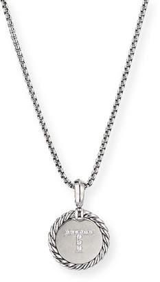 David Yurman Collectible Diamond Initial T Necklace