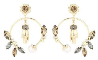Erdem Embellished hoop earrings