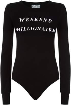 Wildfox Couture Weekend Millionaire Bodysuit