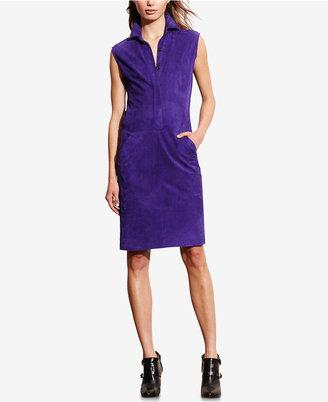 Lauren Ralph Lauren Suede Shift Dress $798 thestylecure.com