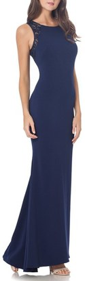 Women's Carmen Marc Valvo Infusion Stretch Column Gown $375 thestylecure.com