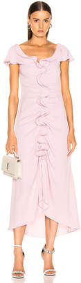 Sies Marjan Portia Marocaine Ruched Dress in Soft Pink | FWRD