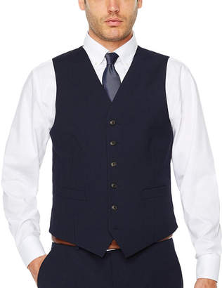 STAFFORD Stafford Stripe Classic Fit Stretch Suit Vest