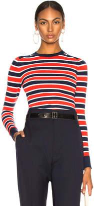 Joostricot JoosTricot Bodycon Long Sleeve Crew Neck Sweater in Marine Stripe | FWRD