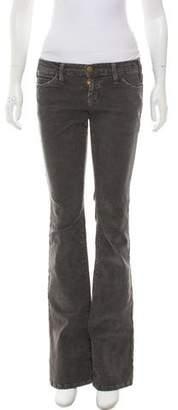 Current/Elliott Low-Rise Corduroy Pants