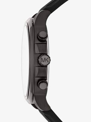 Michael Kors Bryson Black-Tone Silicone Watch