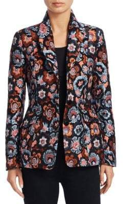 Theory Floral Jacquard Jacket