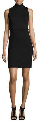 French Connection Lula High-Line Sheath Dress, Black $148 thestylecure.com