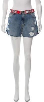 Emilio Pucci Embellished Mid-Rise Shorts