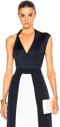 Cushnie et Ochs Gloss Jersey Bodysuit $595 thestylecure.com