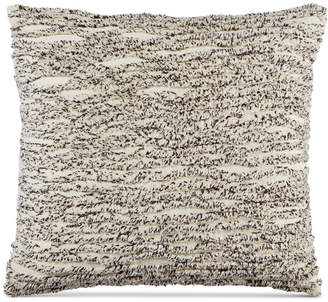 "Martha Stewart Collection Whim by Collection Cotton Tufted Chenille Stripe 20"" Square Decorative Pillow, Created for Macy's Bedding"