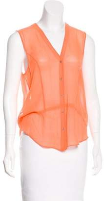 Helmut Lang HELMUT Sleeveless Silk Top