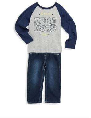 Little Boy's Graphic Long-Sleeve & Jeans Set
