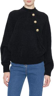 Balmain Batwing Long Sleeved Mohair Sweater