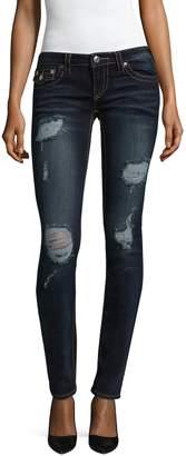 True Religion Women's Destroyed Skinny Flap Cotton Jeans