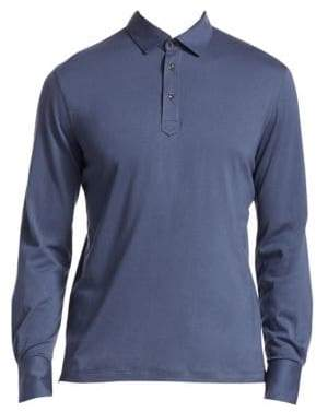 Brunello Cucinelli Long-Sleeve Polo Shirt