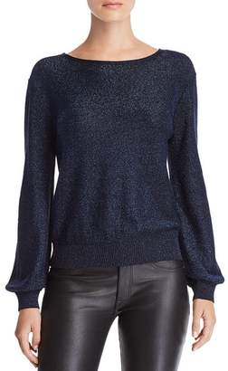 Milly Metallic Shimmer Sweater