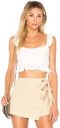 by the way. Monroe Ruffle Crop Top
