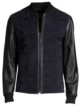 Amir Able Leather & Suede Jacket
