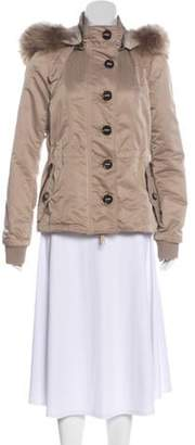 Burberry Hooded Zip-Up Jacket Tan Hooded Zip-Up Jacket
