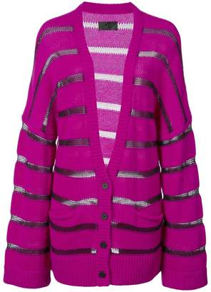 RtA striped knitted cardigan