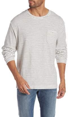 Michael Bastian Striped Long Sleeve Crew Neck Shirt