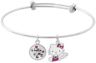 Hello Kitty Women's Sanrio Stainless Steel Hello Kitty Angel Charm Bangle $22.99 thestylecure.com