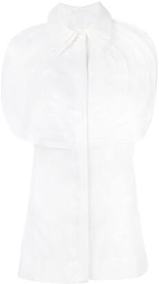Capucci pleated bib sleeveless shirt
