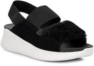 UGG Silverlake Sneaker Sandal with Genuine Shearling Trim