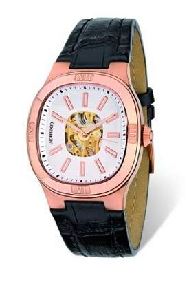 Morellato Men's SZ6017 Classy Black Calfskin Band Watch.