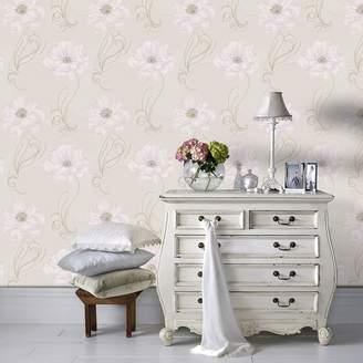 Graham & Brown Boutique - Cream & Beige Sofia Wallpaper