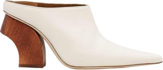 Rejina Pyo Yasmin Wooden Heel White Mules