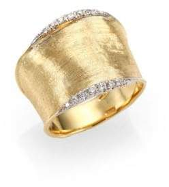 Marco Bicego Lunaria Diamond& 18K Yellow Gold Band Ring