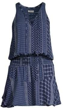 Ramy Brook Chandler Patchwork Mini Dress