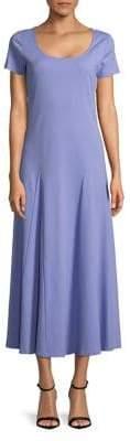 Joan Vass Poppy Cotton Maxi Dress
