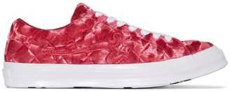 Converse X GOLF le FLEUR* One Star velvet sneakers
