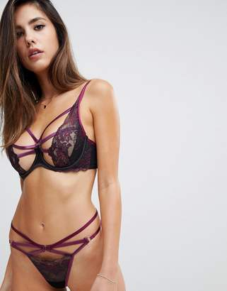 Hunkemoller Sosha strappy two tone string thong
