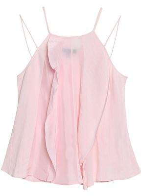 Belstaff Ruffled Satin Cloqué And Cady Camisole
