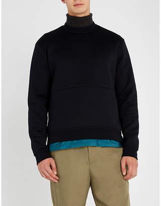 Prada Shell-trimmed cotton-blend sweatshirt