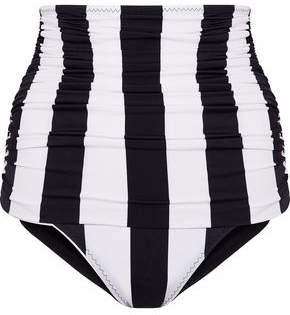 Norma Kamali Ruched High-Rise Bikini Briefs
