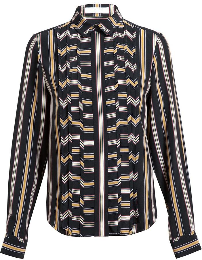 Chloé Striped Silk Shirt