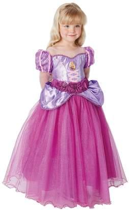 Rubie's Costume Co Girls Purple Rapunzel Premium Fancy Dress Costume - Purple