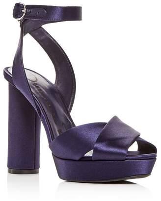 4c4dcc67da3f Oscar de la Renta Women s Satin High-Heel Platform Sandals